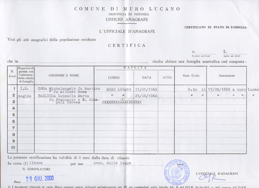 Italian Civil Records